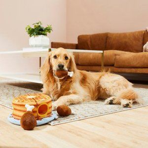 Chicken and Waffle Dog Plush Toy